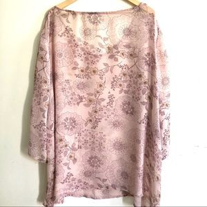 label removed Swim - NWOT Silk georgette cover-up 3X